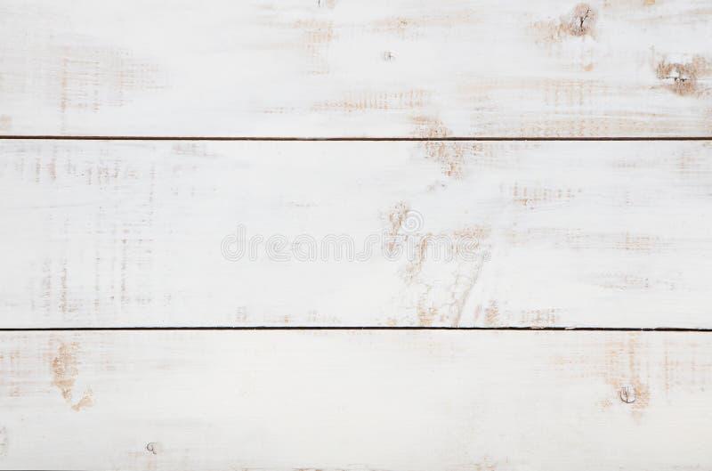 Fond en bois blanc de texture avec la haute résolution L'espace de copie de vue supérieure photographie stock