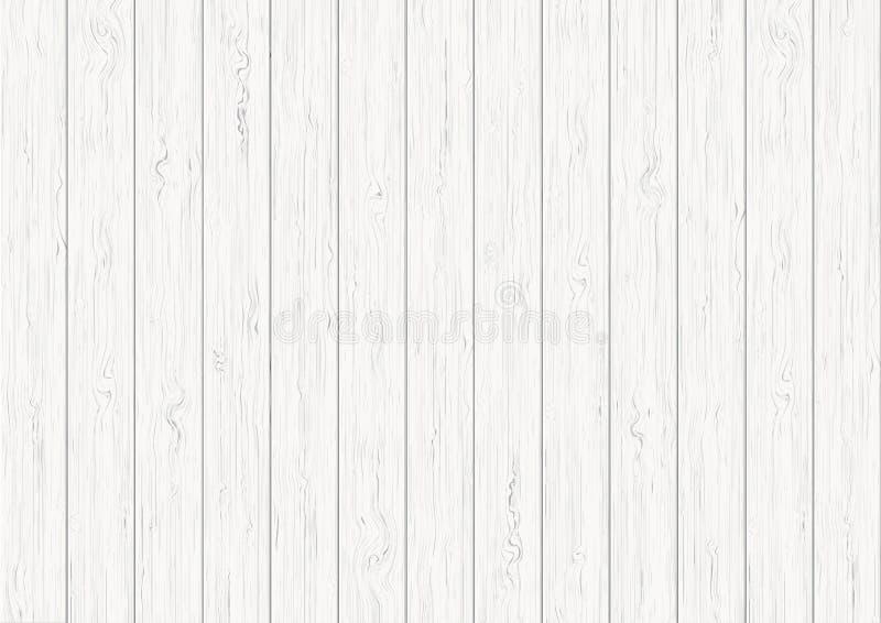 Fond en bois blanc de texture de planche illustration stock
