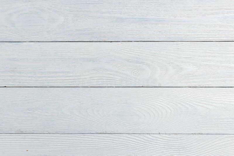 Fond en bois blanc de texture, vue supérieure en bois de table photo stock