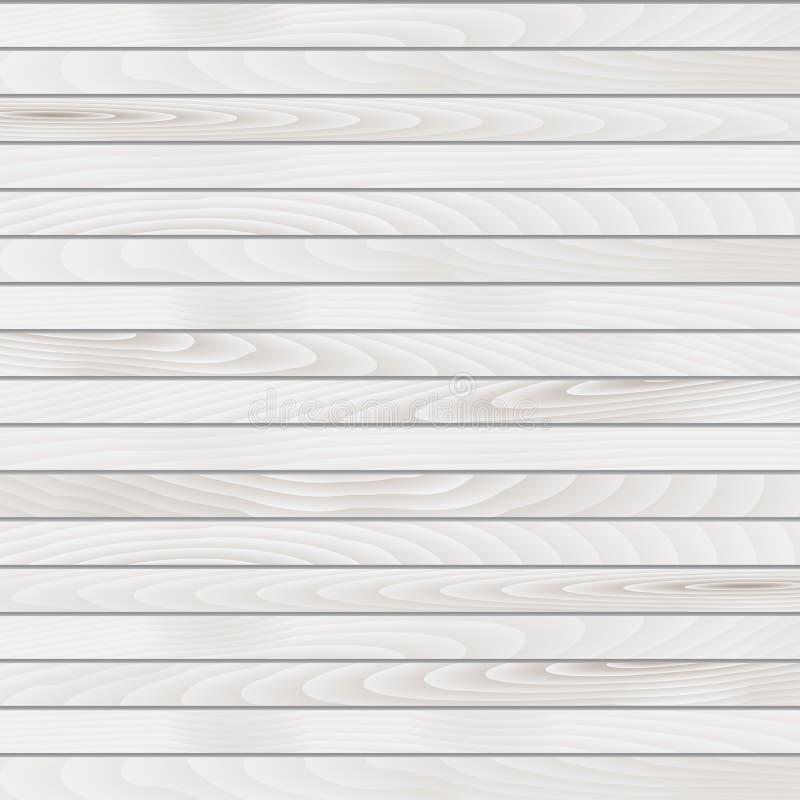 Fond en bois blanc de vecteur Fond élégant pour des conceptions de vintage illustration de vecteur