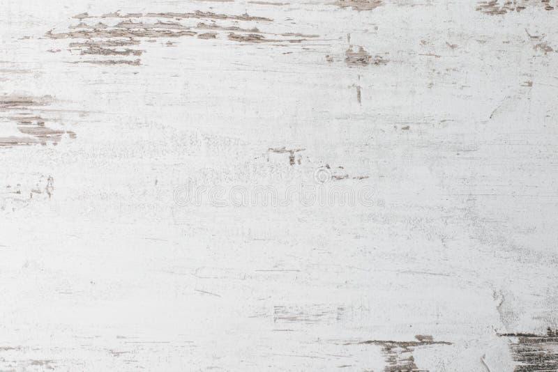 Fond en bois blanc extérieur rustique abstrait de texture de table Fermez-vous du mur rustique fait en texture en bois blanche de photographie stock libre de droits