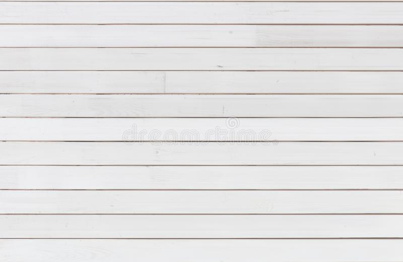 Fond en bois blanc Painted a éraflé le conseil en bois Modèle lumineux de texture photographie stock