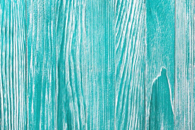 Fond en bois bleu de vintage avec la peinture d'épluchage Vieux mur en bois peint - texture ou fond images libres de droits