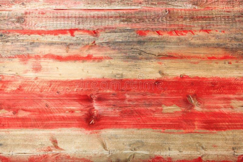 Fond en bois brun clair et rouge de texture images libres de droits
