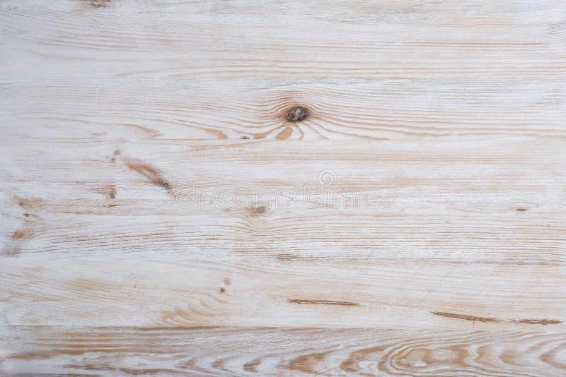 Fond en bois clair de vintage Bois naturel avec les noeuds et la structure évidente de puits Surface texturisée images stock