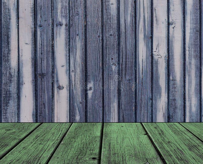 Fond en bois créatif coloré avec le plancher photographie stock