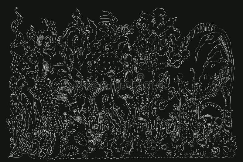 Fond en bois crayeux illustration stock