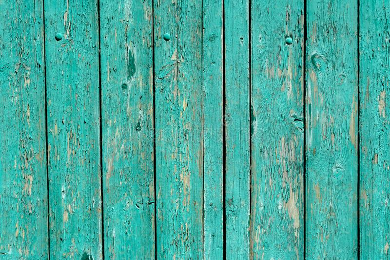Fond en bois cyan de parquet avec des failles images stock