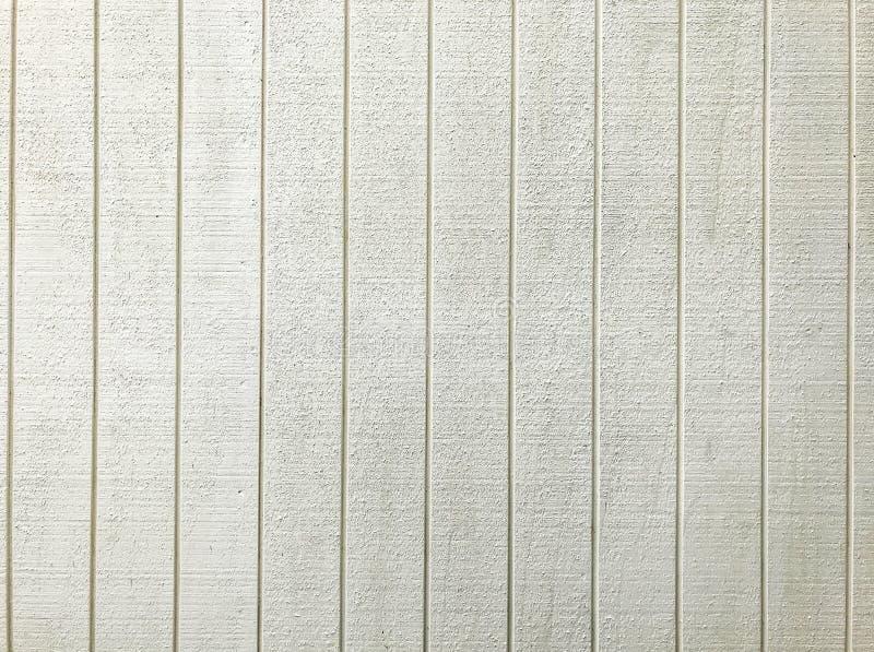 Fond en bois de modèle de panneau de barrière peint par blanc Concept de construction intérieur et extérieur de structure pour le photographie stock libre de droits