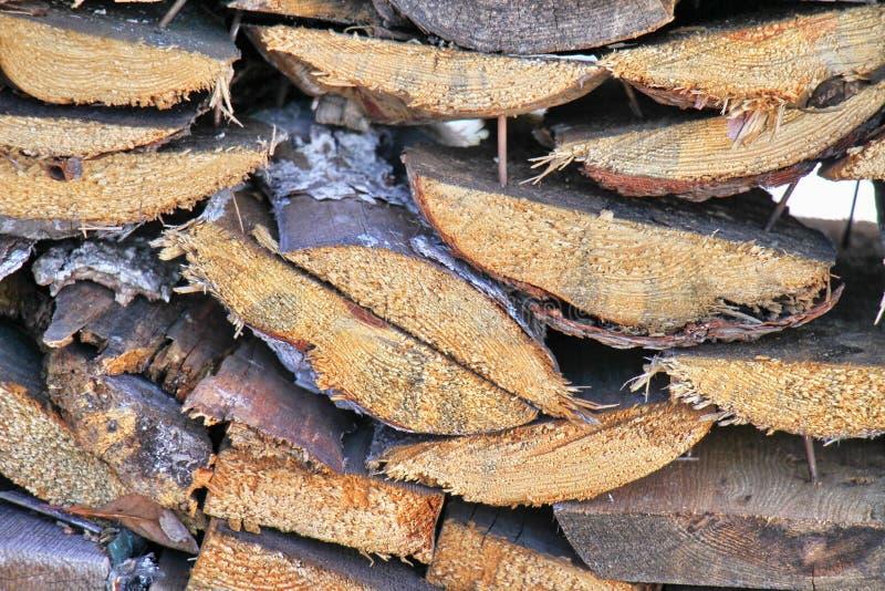 Fond en bois de photo de mur, rayures brunes photos stock