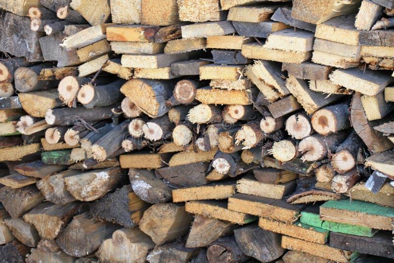 Fond en bois de photo de mur, rayures brunes images stock