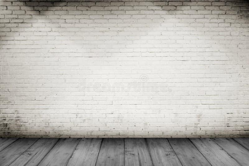 Fond en bois de plancher et de mur de briques photos stock