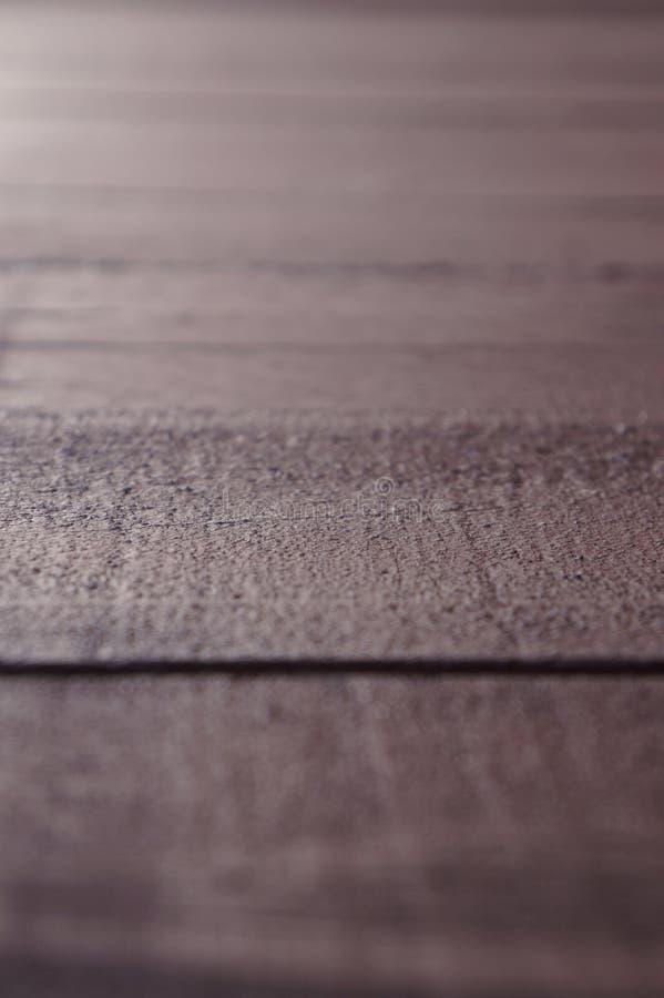 Fond en bois de planches de brun de bois de construction brouillé photos libres de droits