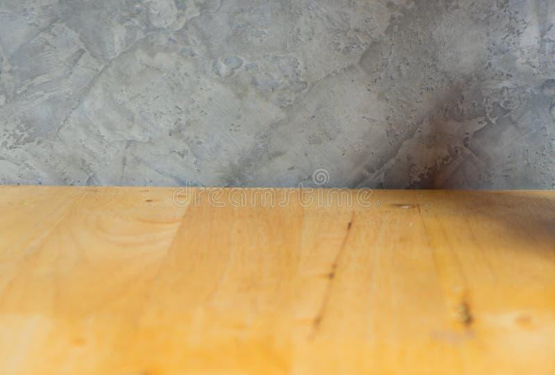 Fond en bois de texture de mur de table et de ciment photo libre de droits