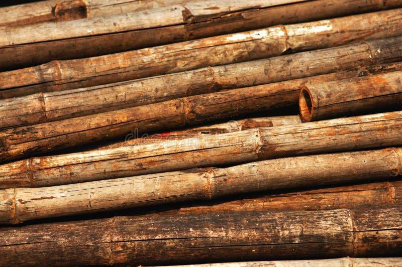 Vieux fond en bambou image libre de droits