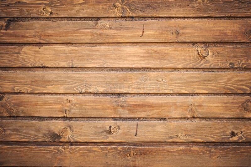 Fond en bois de texture de mur de planche de Brown photo stock