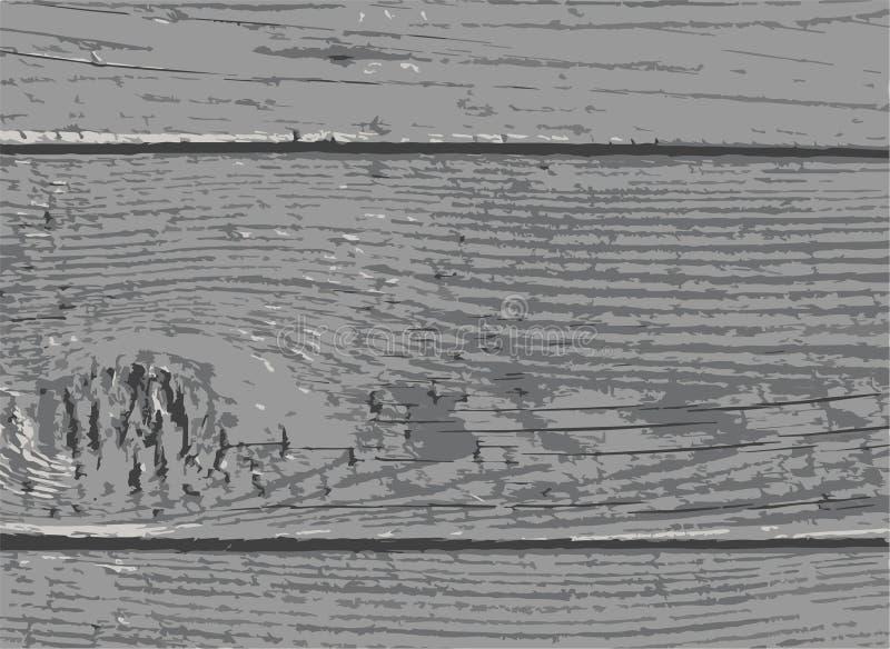 Fond en bois de texture de planche de bois dur gris illustration de vecteur