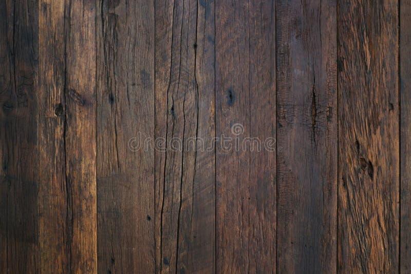 Fond en bois de texture, planches en bois Surface en bois foncée de fond de texture avec le vieux modèle naturel Texture en bois  photo libre de droits