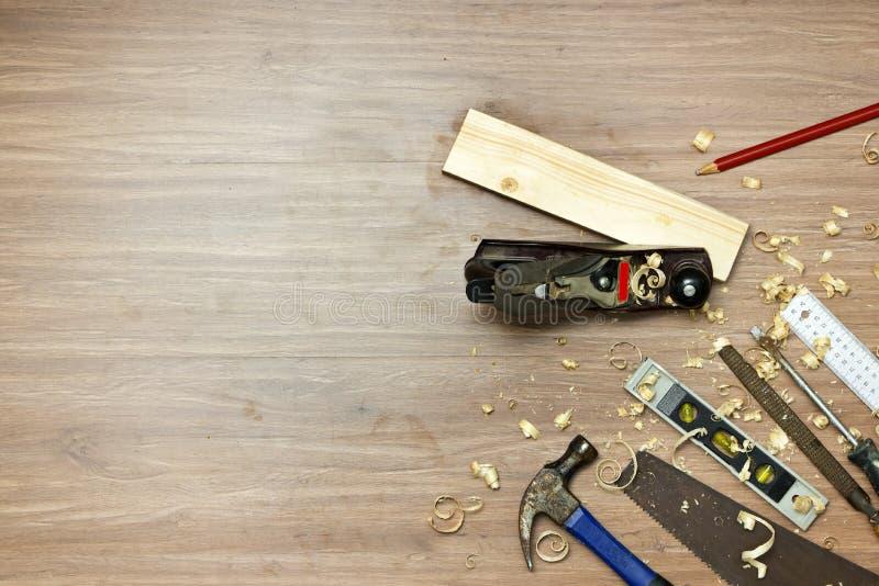 Fond en bois de travail photos libres de droits