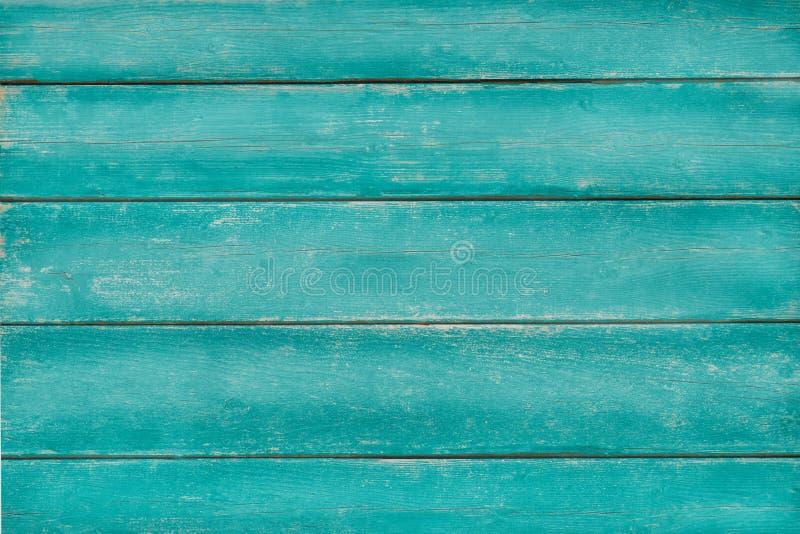 Fond en bois de vert de turquoise de vintage images stock