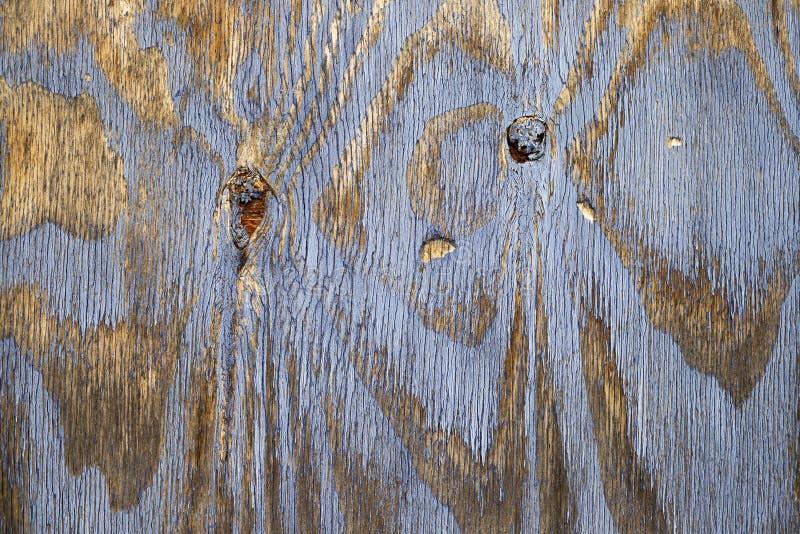 Fond en bois de vintage avec la peinture bleue d'?pluchage de couleur photo stock