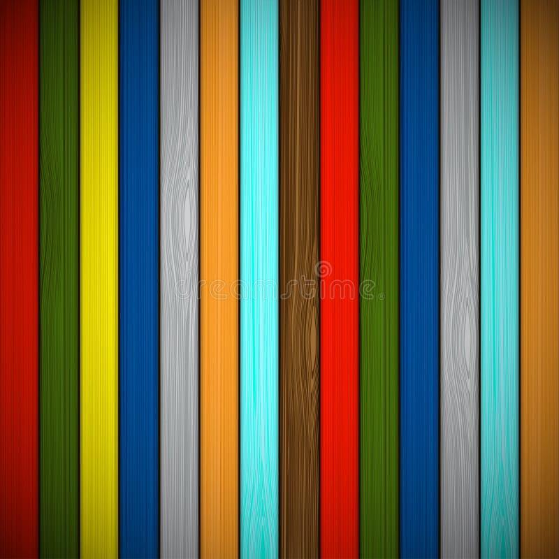Fond en bois des conseils multicolores illustration libre de droits