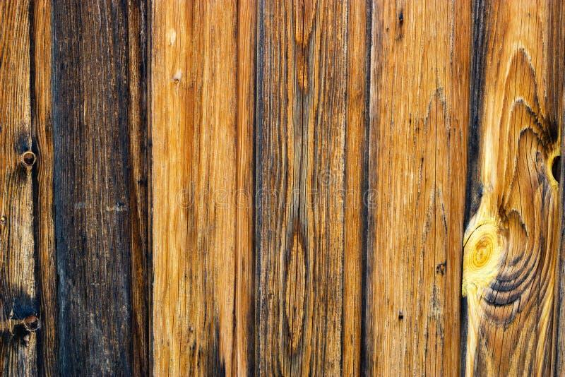 Fond en bois des conseils verticaux Vieux fond en bois de texture de planche photographie stock libre de droits