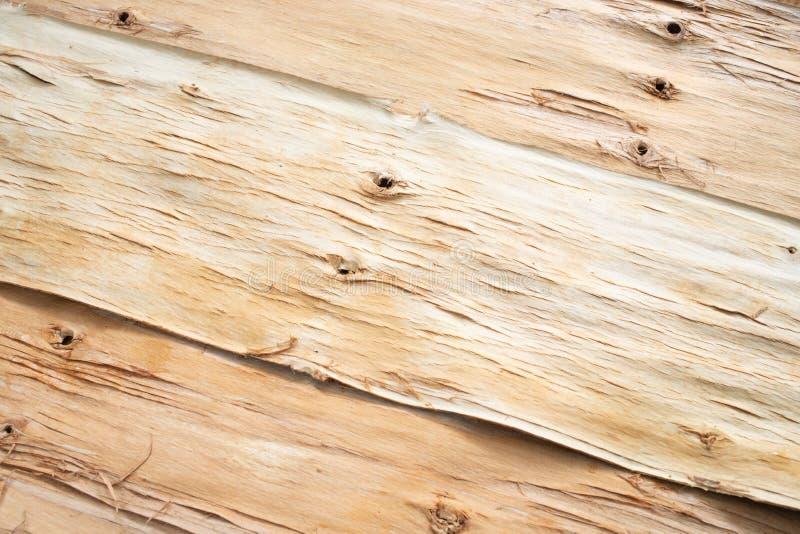 Fond en bois diagonal de côté inversé d'écorce d'arbre photographie stock