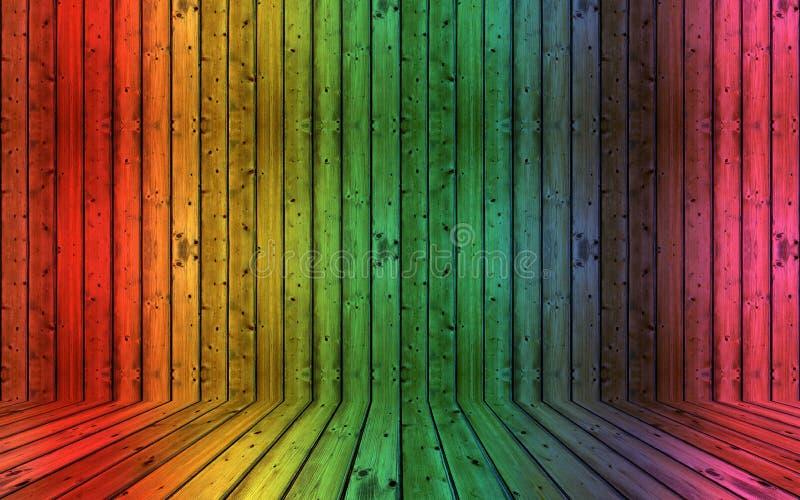 Fond en bois modifié décoratif coloré photos libres de droits
