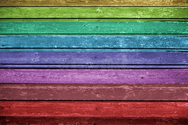 Fond en bois multicolore photos libres de droits