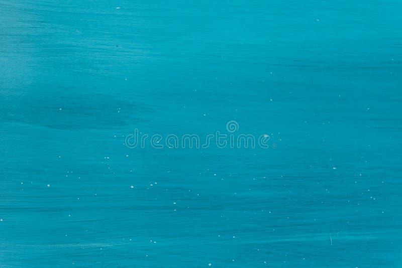 Fond en bois peint par turquoise photographie stock libre de droits