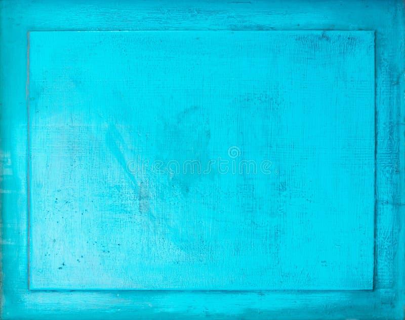 Fond en bois peint vieille par turquoise avec le cadre image libre de droits
