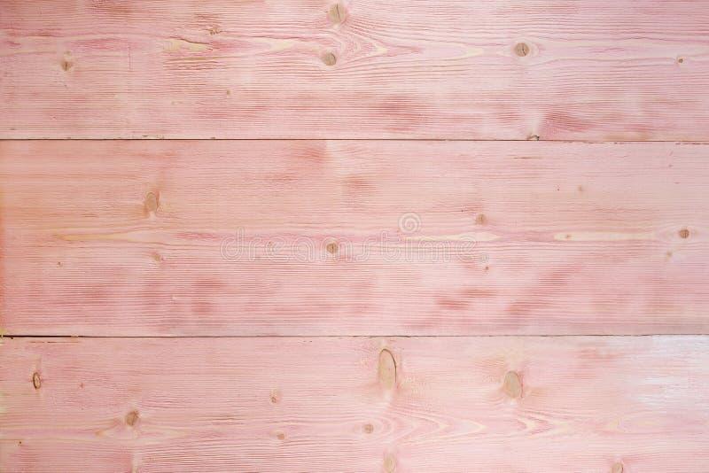 Fond en bois rose La surface en bois de planche de modèle de texture a peint le pastel blanc et rose photo stock