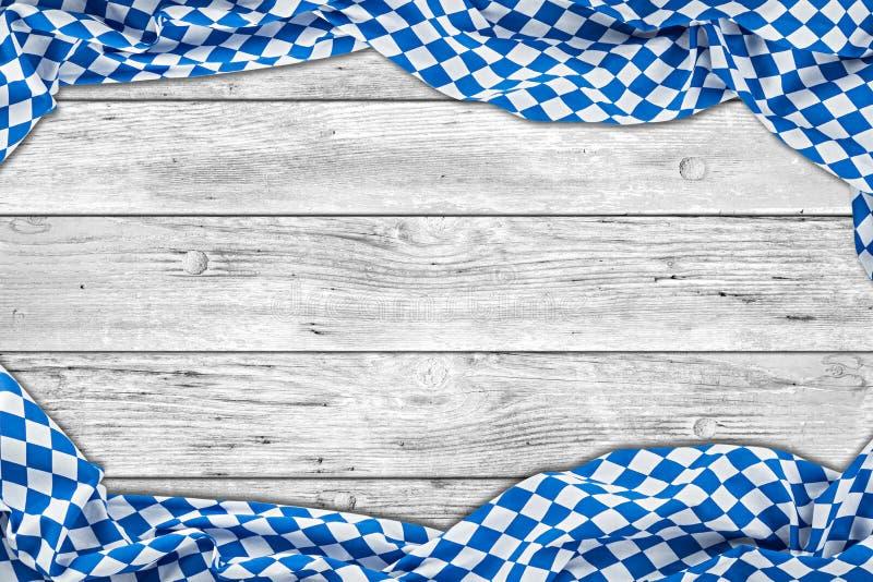 Fond en bois rustique en bois blanc de la Bavière photographie stock