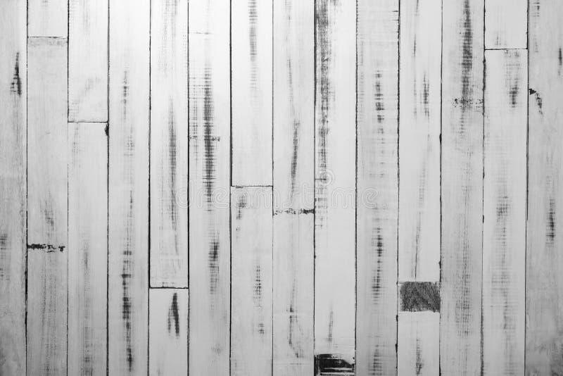 Fond en bois rustique blanc de texture de mur Modèle blanc de palette photo libre de droits