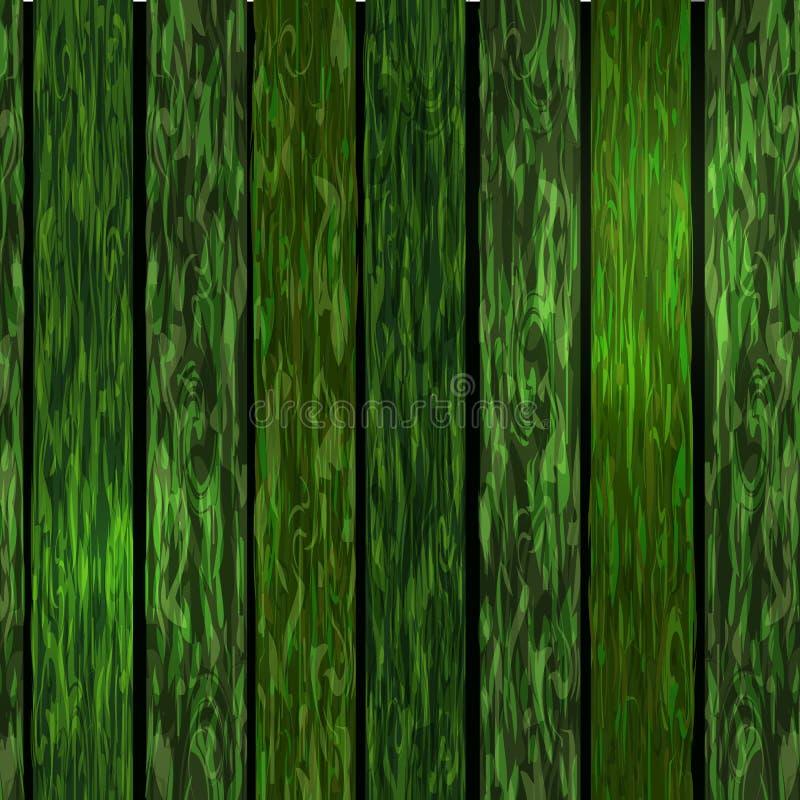 Fond en bois vert illustration stock