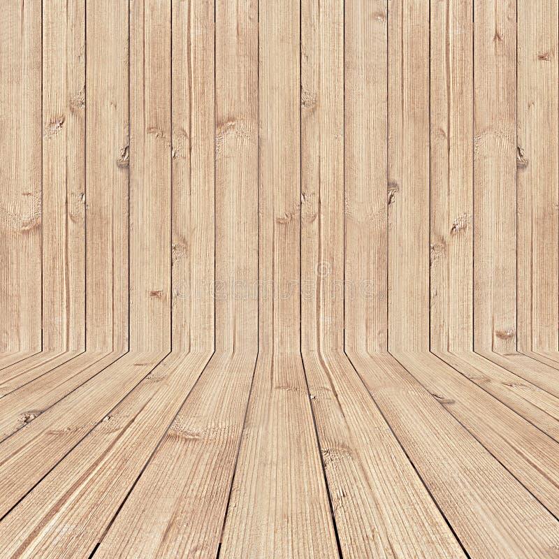 Fond en bois vide de pièce photographie stock