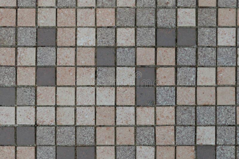 Fond en céramique de Brown, gris, blanc et noir de mur et carrelage d'abrégé sur image stock