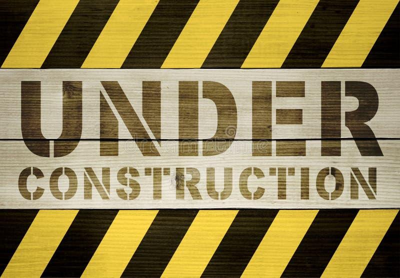 Fond en construction illustration stock