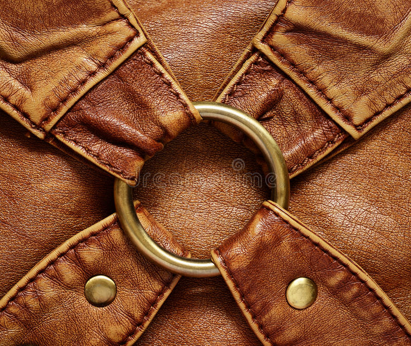 Fond en cuir photographie stock