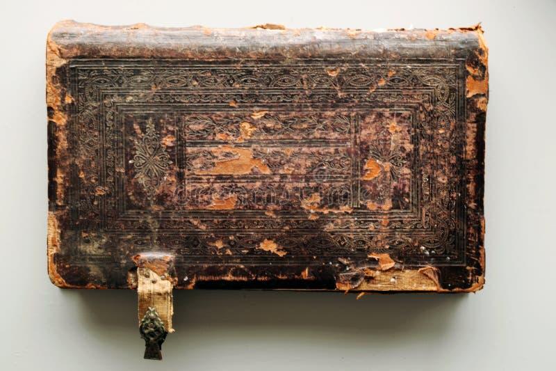 Fond en cuir antique de couverture de livre images libres de droits