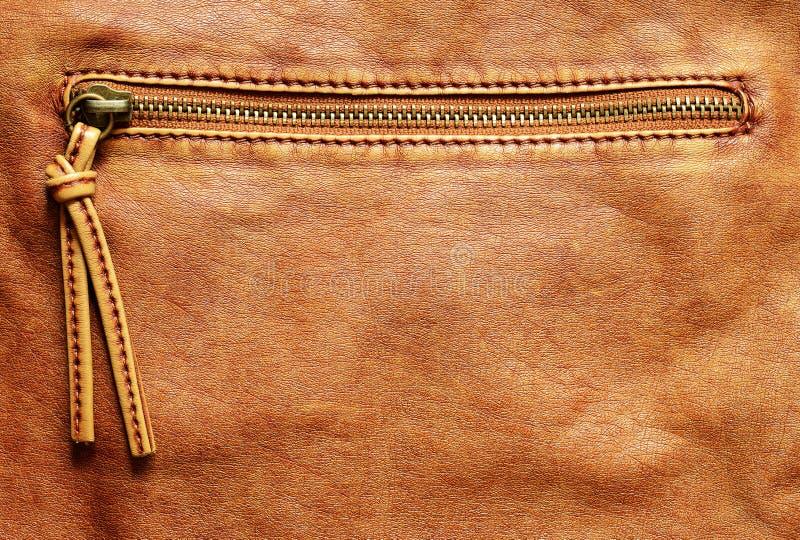 Fond en cuir avec la tirette photographie stock libre de droits