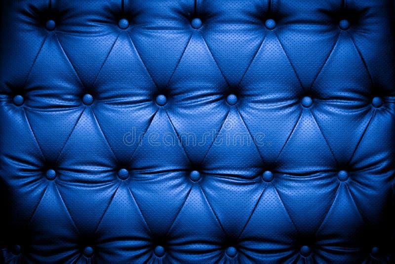 Fond en cuir bleu-foncé de texture images libres de droits