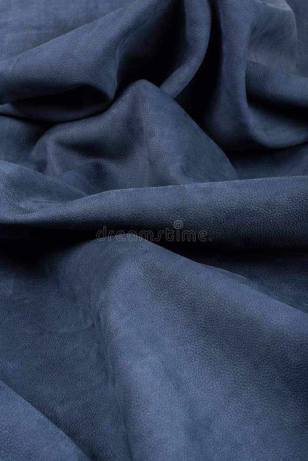 Fond en cuir froissé par plan rapproché photographie stock libre de droits