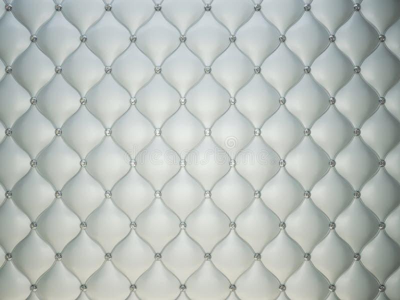 Fond en cuir gris de luxe avec des diamants ou des pierres gemmes illustration de vecteur
