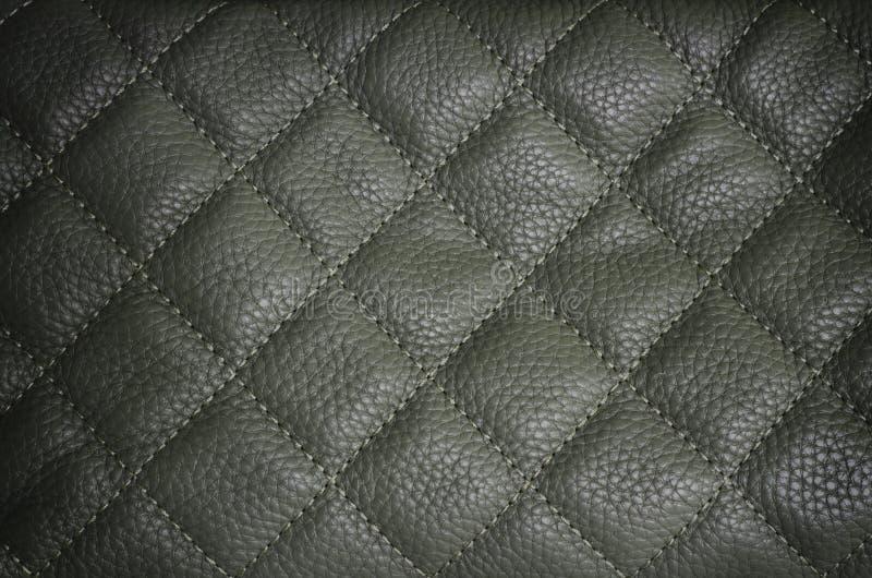 Fond en cuir gris-foncé de texture images stock