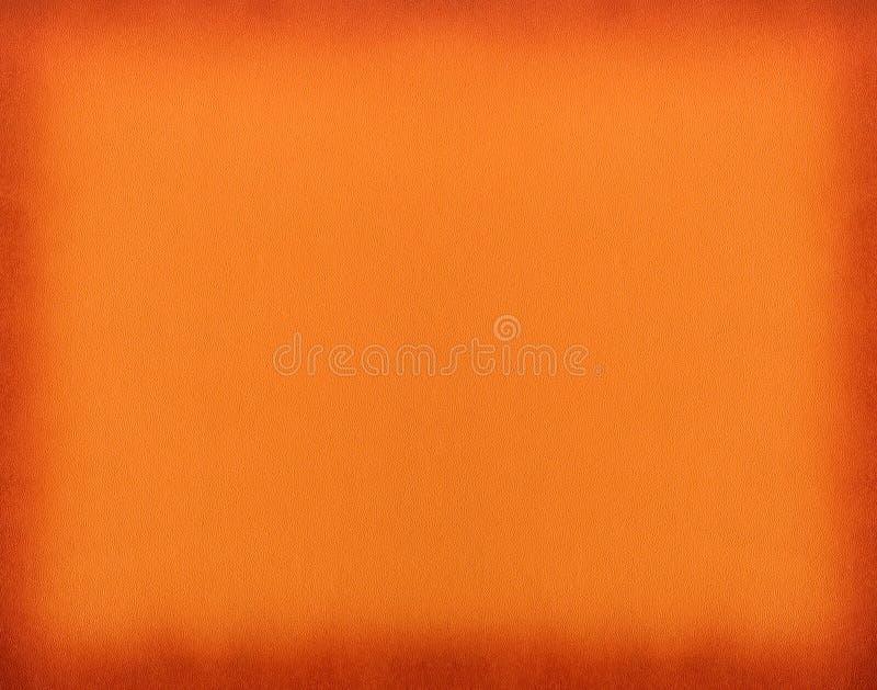 Fond en cuir humide orange de cadre images stock