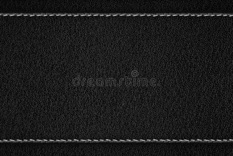 Fond en cuir noir image libre de droits