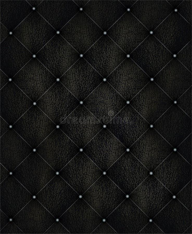 Fond en cuir noir photographie stock