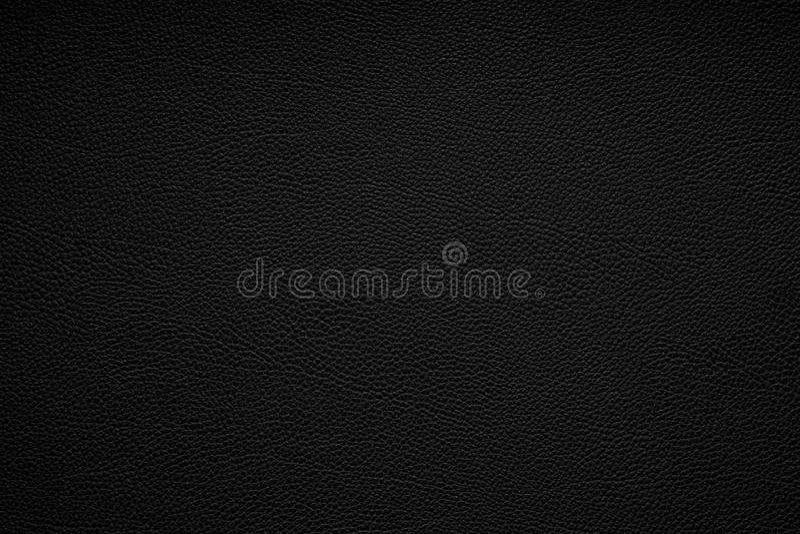 Fond en cuir noir de texture image stock